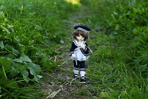 BJD CROBI-DOLL, E Line, Toriのロビンをお迎えして、初めてのお散歩