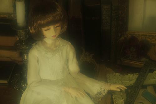 PARABOX、47グレーテルの閉眼ヘッドをメイクした、眠る乙女、葉子。亀有にあるスタジオ、Lumier Kさんでの撮影会に連れて行った。