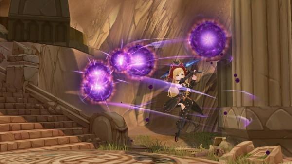 基本プレイ無料のドラマチックアクションRPG『セブンスダーク』 使い魔を操って戦う新武器「サイズ」の実装が決定したよ~!