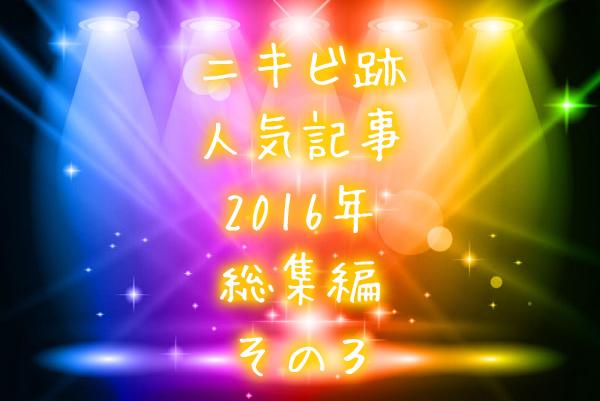 ニキビ跡人気記事2016年総集編・その3