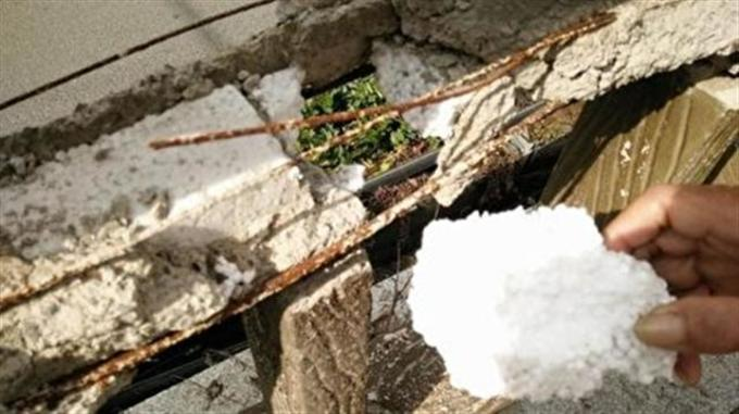 欄干 橋 中国 手抜き工事 発泡スチロール 吉林省 加重 張力