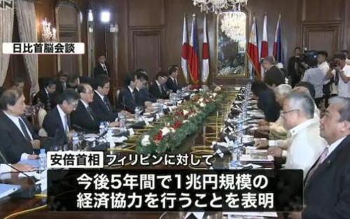 安倍首相 日比首脳会談 フィリピン ドゥテルテ大統領 経済支援