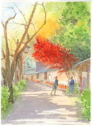 椿山荘冠木門