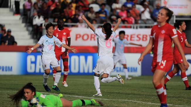 Canada 0 - 5 Japan advance to the #U20WWC quarter-finals