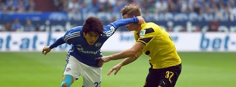 Schalkes Atsuto Uchida is back in team training after being injured for over one and a half years