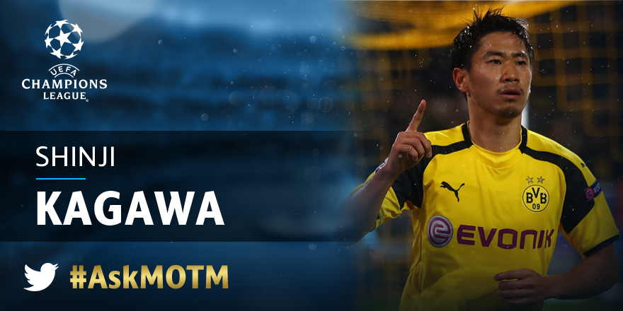Get your questions in for @BVB star man Shinji Kagawa