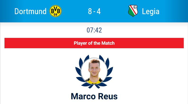 Dortmund hammered Legia motm reus