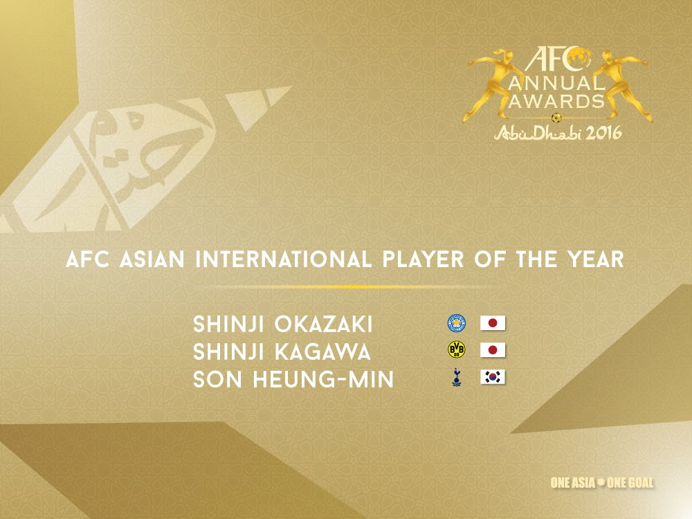 here are the nominees for the AFC Asian International Player Of The Year