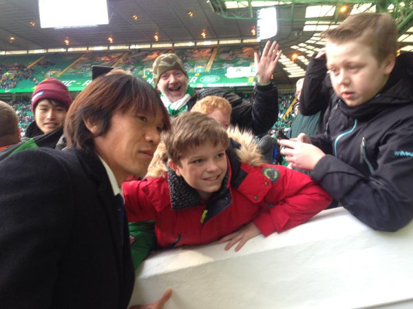 nakamura returned to the celtic park