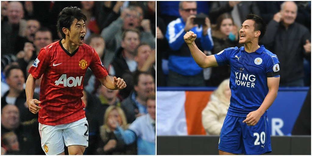 Shinji Okazaki has drawn level with Shinji Kagawa as the all-time top Japanese scorer in the Premier League