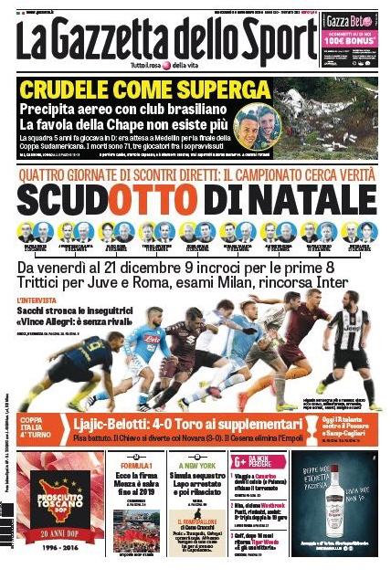 Gazzetta dello Sport (Italy) Cruel like Superga