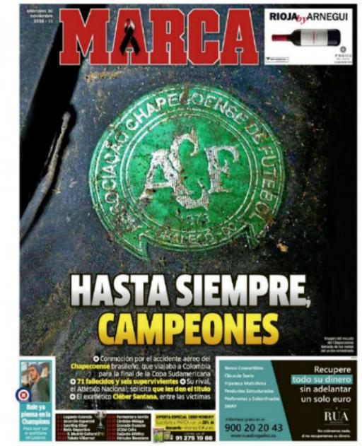 Marca (Spain) Farewell, Champions