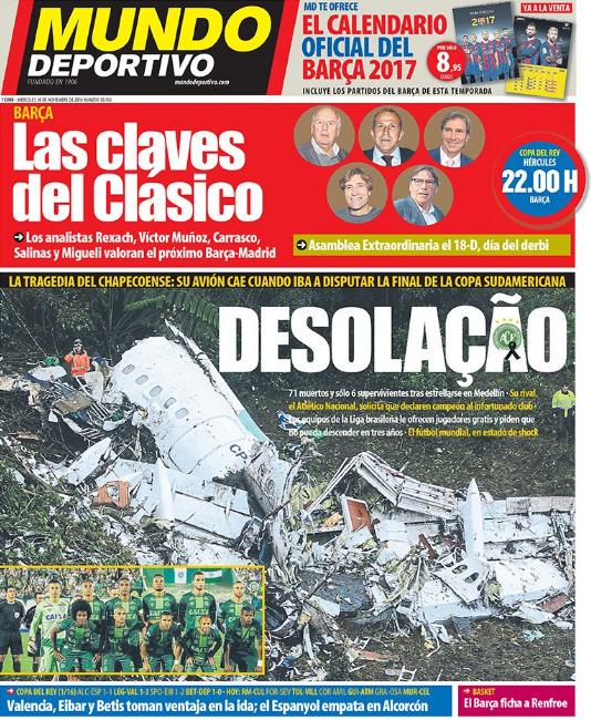 Mundo Deportivo (Spain) Desolation
