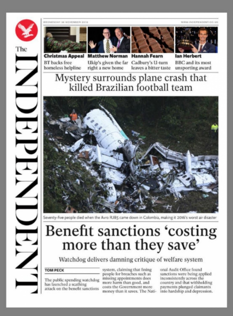 The Independent (UK) Chapecoenses disaster