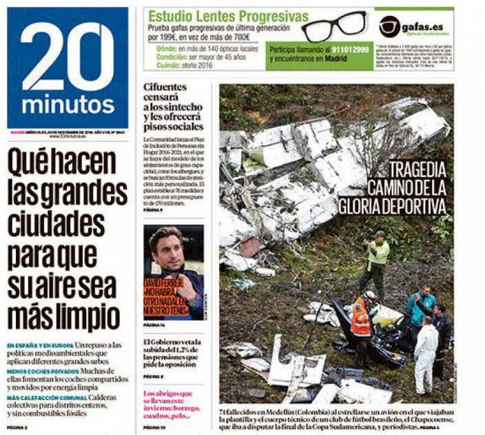 20 Minutos (Spain) Tragedy on the way to the sports glory