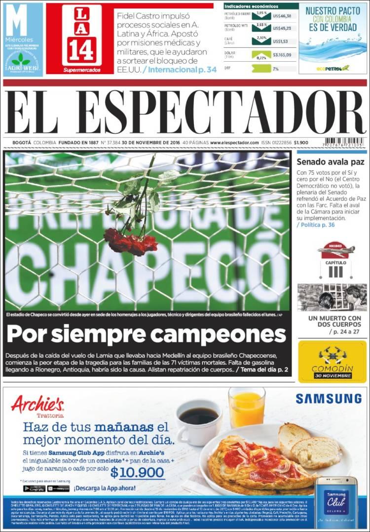 El Espectador (Colombia) Forever champions