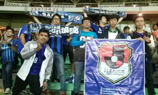 J League lovers Indonesia bersama suporter gamba osaka langsung dr Jepang