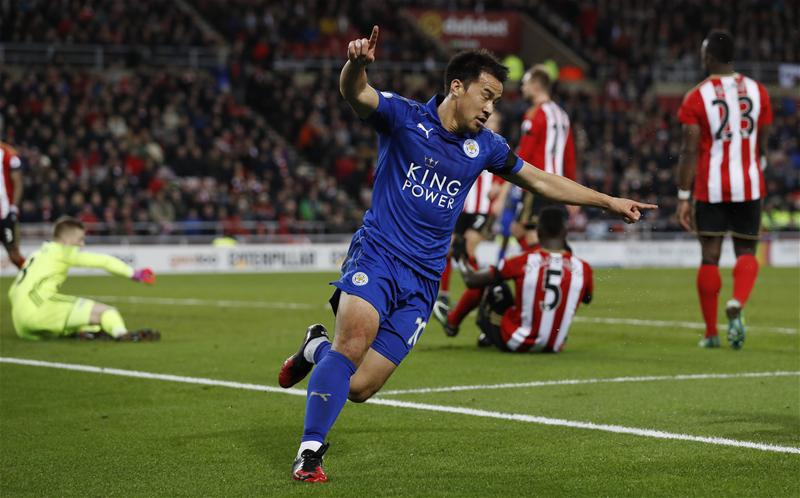 Shinji Okazaki is now the outright top Japanese @premierleague scorer of all-time with 7 goals, surpassing Shinji Kagawa