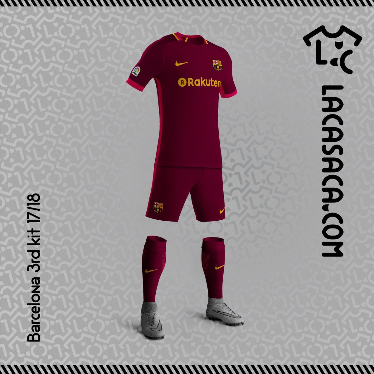 Barcelona Possible home, away and third kits of Barcelona for the 17_18 season 3