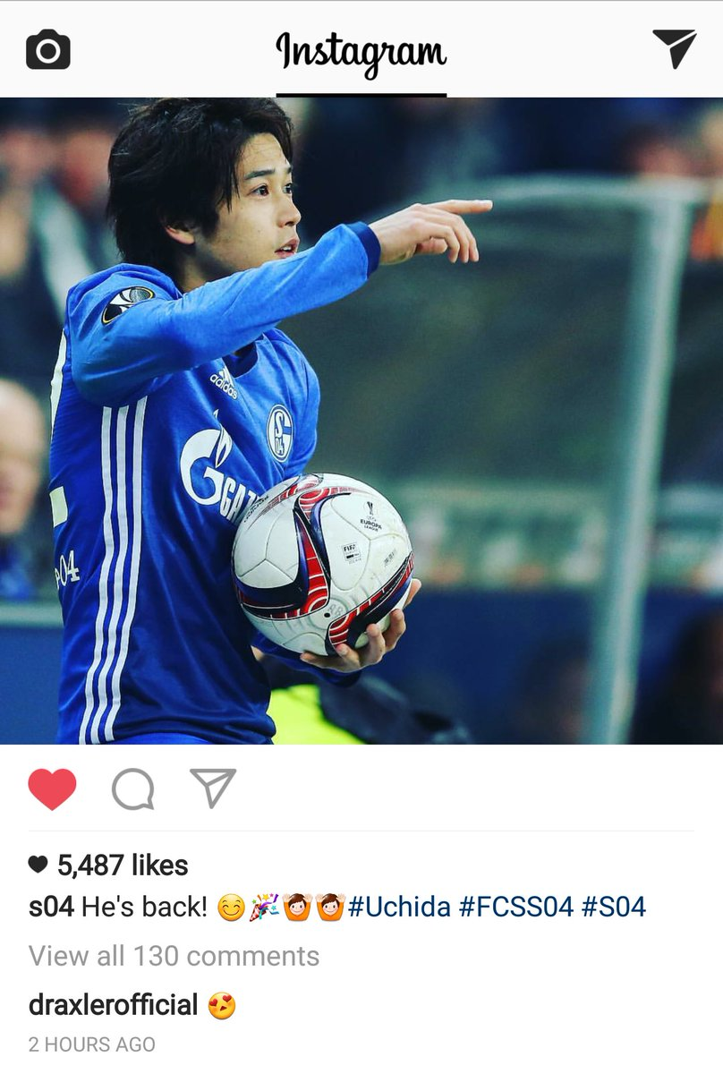 #Draxler commenting on this picture of #uchida