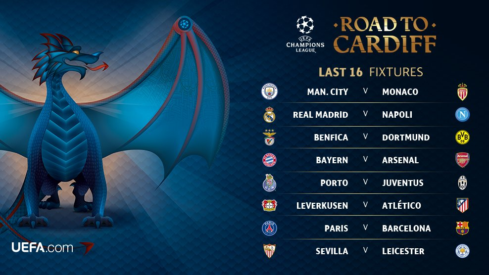 Champions League Round of 16 Draw 2016_17