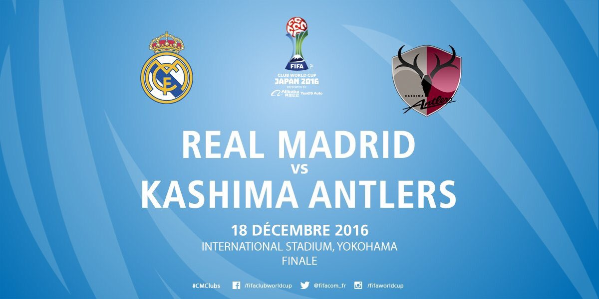 FINAL FIFA CLUB WC 2016 Real Madrid vs Kashima Antlers 17_30 wib