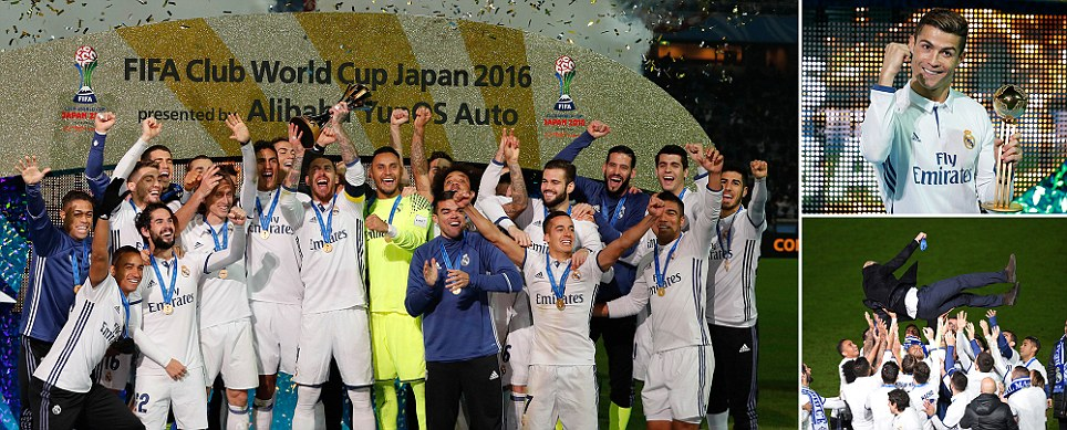 Ronaldo to the rescue Madrid crowned world champions after hat-trick helps Real survive big scare against Japanese underdogs