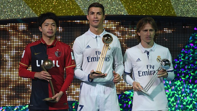 Ronaldo, Modric and Shibasaki sweep awards