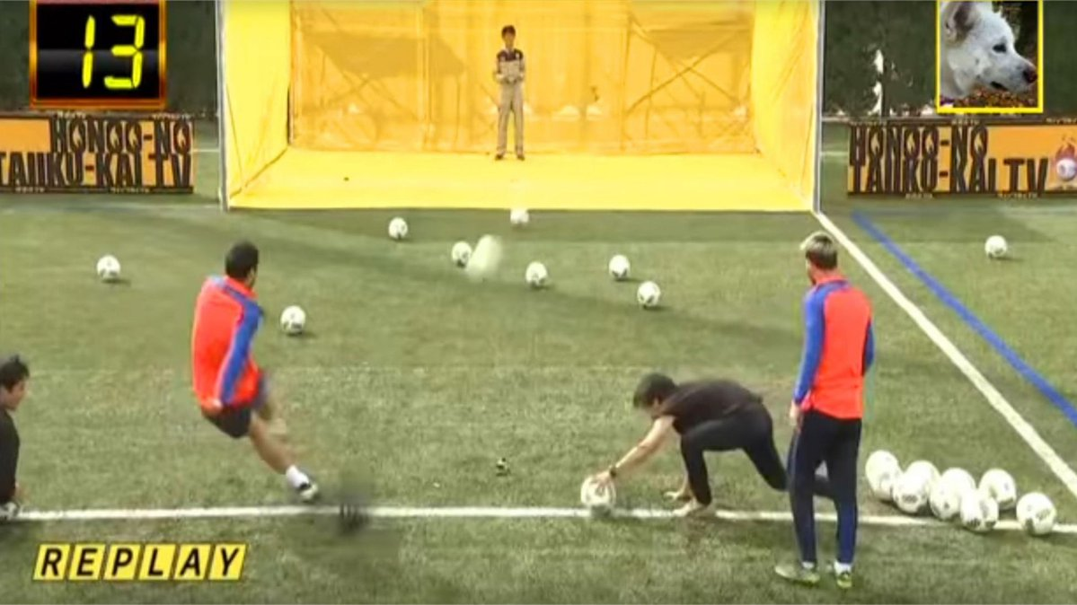 Lionel Messi and Luis Suarez take on a drone in very bizarre Japanese TV show