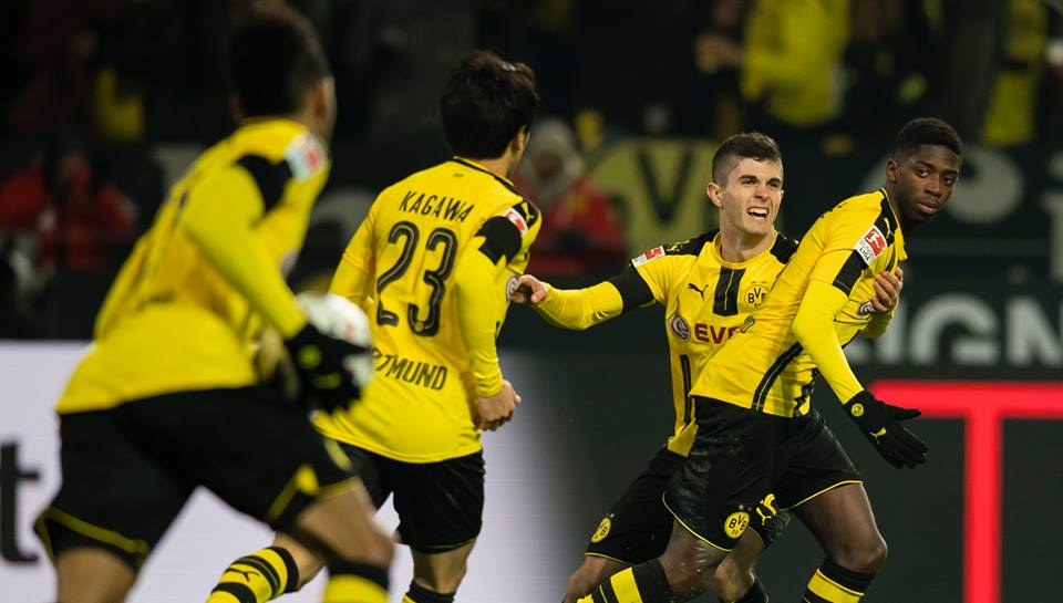 kagawa assists demele goal against Augsburg 1_1