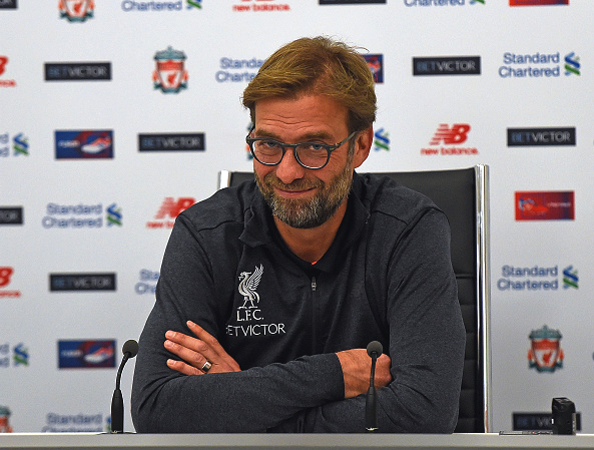Klopp during his pre-Stoke press conference