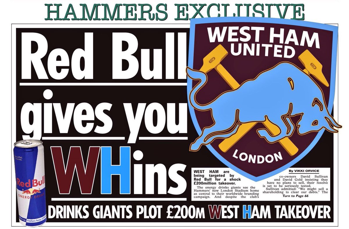 West Ham are being targeted by drinks giants Red Bull for a shock £200m takeover The Sun