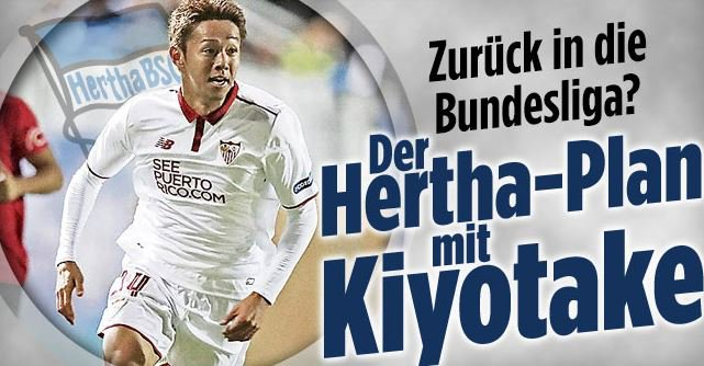 Hertha BSC could make a move to bring Sevillas Hiroshi Kiyotake back to Germany