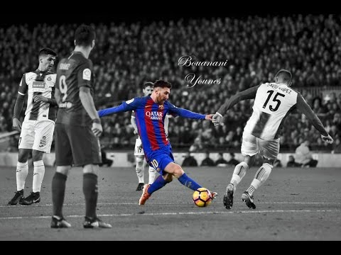 Messi incredible dribbling for Suarez goal Barcelona vs Espanyol Seen from the stands