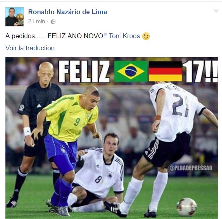 Ronaldo replies to Kroos tweet Happy new year 2017