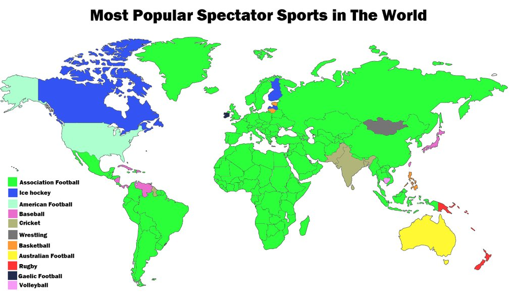 most popular spectator sports in the world