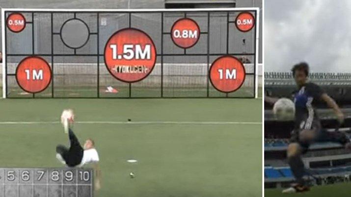 Neymar vs Okazaki shooting challenge