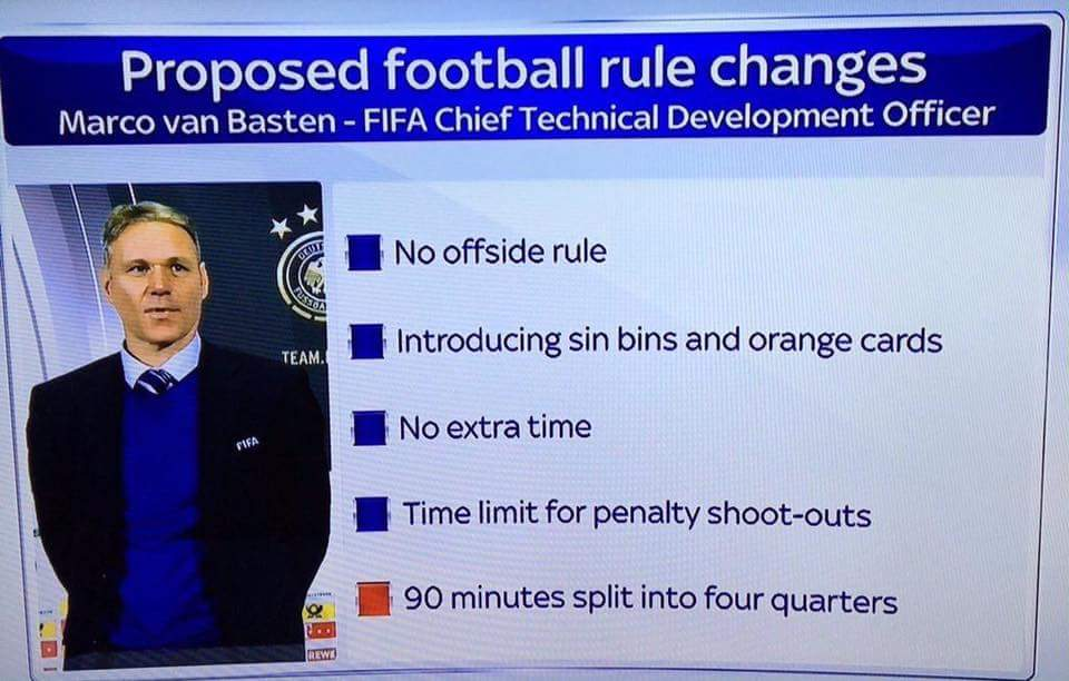 Van Bastens proposed rule changes