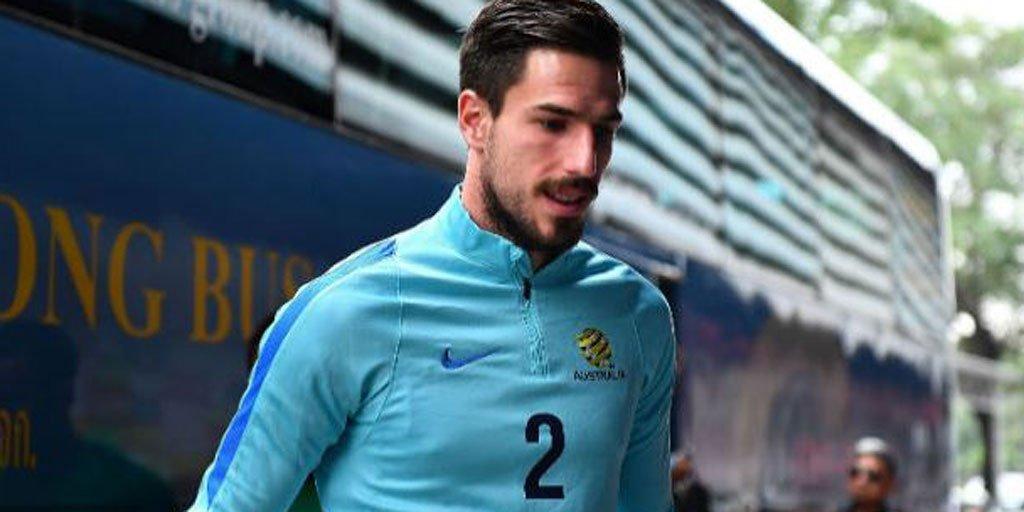 Caltex Socceroos defender Milos Degenek is on his way to Japan