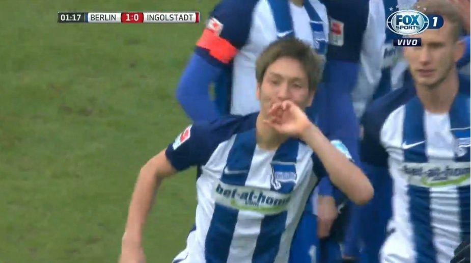 ¡Gol de Hertha Berlín! Al minuto lo hizo Haraguchi Por FOX Sports y nuestra APP AQU
