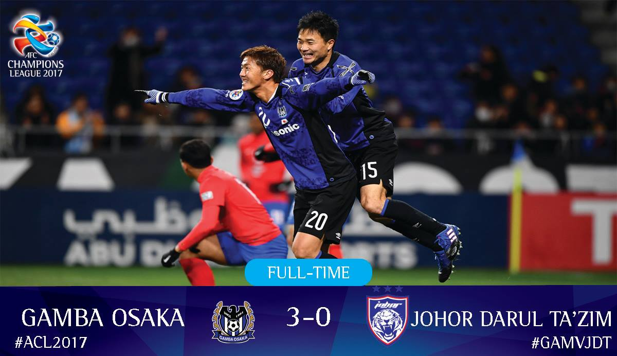 @GAMBA_OFFICIAL 3-0 @OfficialJohor Gamba Osaka advance to the group stage! #GAMvJDT
