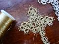 ナンフェア タティングレースの金糸のクロス