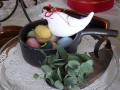ナンフェア 白い小鳥のブローチ