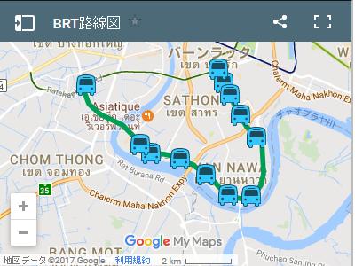 バンコク BRTの地図