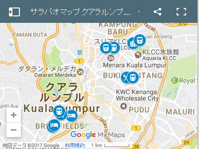 マレーシア クアラルンプールの地図
