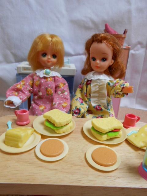 冷蔵庫とリカちゃんたち 006