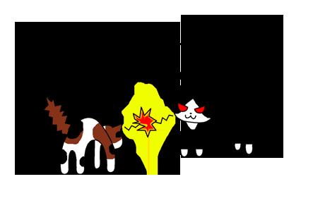 猫喧嘩イラスト2