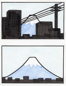 富士山の見え方