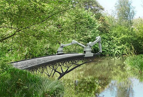 世界初の3Dプリンター鉄橋