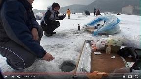 榛名湖 氷上ワカサギ釣り